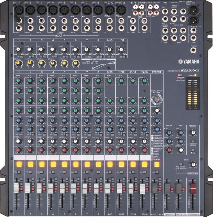 Mixer yamaha mg 166 cx for Yamaha mixing boards